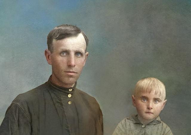 старинное фото после ретуши
