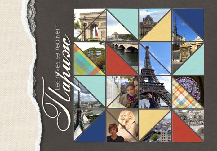 Пример обложки фотокниги о Париже