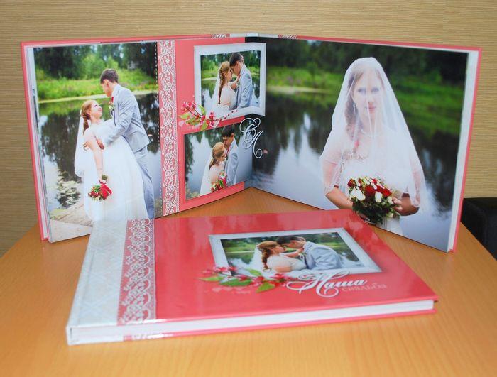 разворот 2 свадебной фотокниги