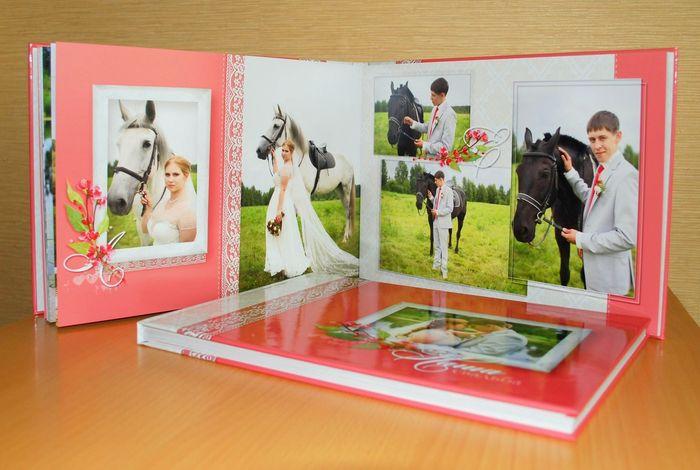 разворот 4 свадебной фотокниги