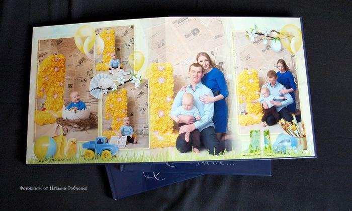 финальный разворот напечатанной книги с фотосессии