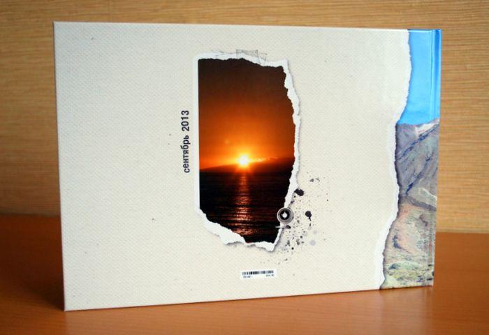 задняя обложка напечатанной книги