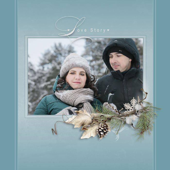 лицевая обложка фотокниги Love Story
