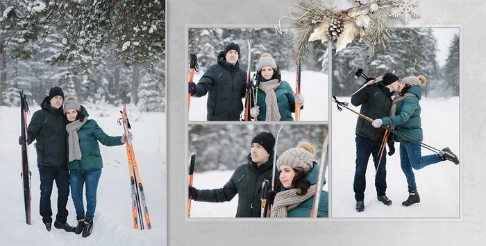 разворот 5 фотокниги Love Story